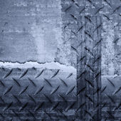 Diamond plate background in bw tones — Stock Photo