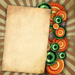 Vintage background with old paper — Stock Photo