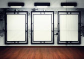 Blank frame in gallery — Stock Photo