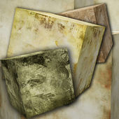 Abstract grunge cubes — Stock Photo