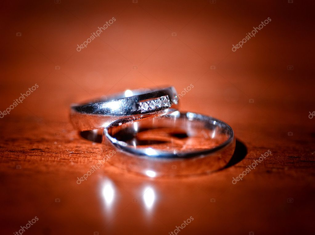 Rings over  wood  Stock Photo #8775797
