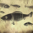 Fish - retro style - Stock Photo