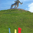 Stock Photo: Steel soldier on Tumulus of Glory, near NovOdessa