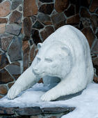 Scultura orso polare — Foto Stock