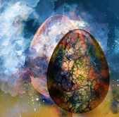 Art abstract background with egg — Stock Photo