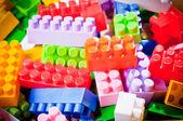 Plastic toy bricks — Stock Photo