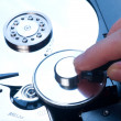 Antivirus and hard disk concept - Stock Photo