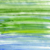 Green and blue watercolor stripes — Stock Photo