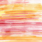 Pink and orange watercolor stripes — Stock Photo