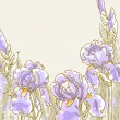 Royalty-Free Stock Vector Image: Background with iris flowers
