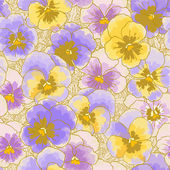 Background with pansy — Vetorial Stock