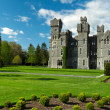 Ashford castle with gardens - Stock Photo