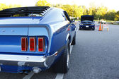 GLOUCESTER, VA, USA -October 14: Vintage 1969 Ford Mustang Mach 1 in the Middle Peninsula Classic Cruisers Club weekly Car Show. Main Street Center. October14, — Stock Photo
