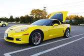 Corvette amarillo — Foto de Stock