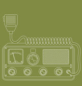 Retro CB radio — Stock Vector