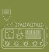 Retro CB radio — Stock Vector