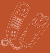 Retro telephone — Stock Vector