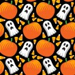 Halloween naadloze patroon — Stockvector