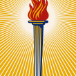 Flaming Torch — Stock Vector #8831701