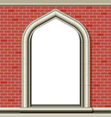 Arched window - bricks — Stock Vector