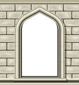 Arched window - stone — Stock Vector