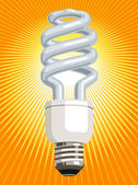 CFL Light Bulb — Stock Vector