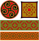 Chinese graphic elements — Stock Vector