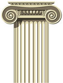 Greek Ionic Column — Stock Vector
