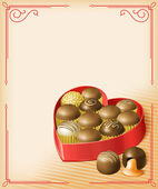 Valentine's Chocolates — Stock Vector