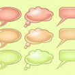 Pastel color speech bubbles — Stock Vector
