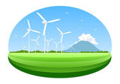 Wind turbine — Stock Vector