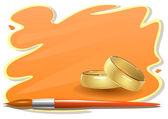 Disegno adesivo matrimonio — Vettoriale Stock