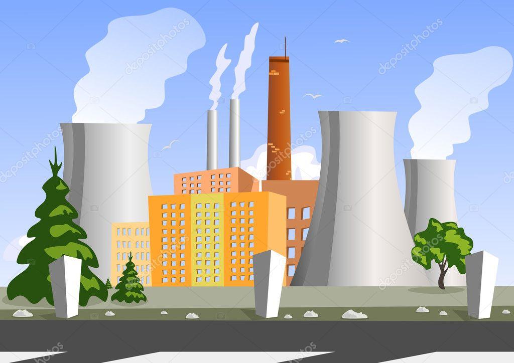Рисунок химический завод