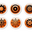 Orange abstract symbols — Vettoriali Stock