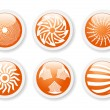 Orange abstract symbols - Stock Vector