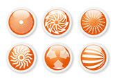 Orange abstract symbols — Stock Vector