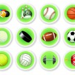 Sport balls icon set — Stock Vector