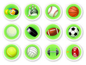 Sport balls icon set — Stock Vector
