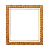 Gold plated picture frame — Stock Photo