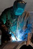 Soldadura de acero — Foto de Stock