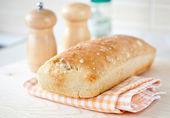 Kitchen bakery cook bread natural food breakfast — Stock Photo