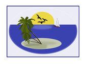 Pouštní ostrov — Stock fotografie