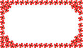 Red flower photo frame — Stock Photo