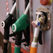 Gas pumps in row - Stock Photo