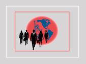 Encarnación americana de profesionalismo con el mundo — Foto de Stock