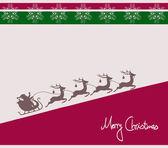Santa note card — Stock Photo