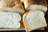 Cut slices of bread — Stock Photo
