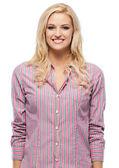Happy beautiful young caucasian woman smiling — Stock Photo