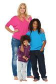 Adorable little family — Stock Photo