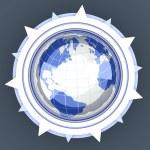 Global compass — Stock Photo